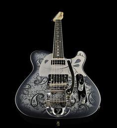 Fender Black Paisley Charcoal Tele MBDG MBDG, electric guitar #guitar #thomann