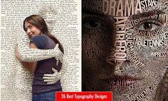 26 Best Typography Design Examples for your inspiration. Read full article: http://webneel.com/typography-inspiration | more http://webneel.com/typography | Follow us www.pinterest.com/webneel