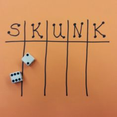 SKUNK--A Fun Game of Chance and Probability Yes.I said SKUNK. My kids love to play this fun game. The only materials needed a pair of dice for the teacher and a sheet of paper for each student. Activity Games, Activities For Kids, Indoor Activities, Games To Play With Kids, Card Games For Kids, Games For School, Games For Children, Fun Kids Games, Children Jokes