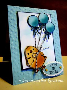 """CC568 - """"HANG"""" IN THERE!! by Karen B Barber - Cards and Paper Crafts at Splitcoaststampers"""