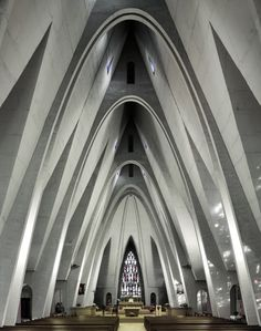 Compelling atmosphere and spaces.  Photography: Mid-Century Modern Churches by Fabrice Fouillet