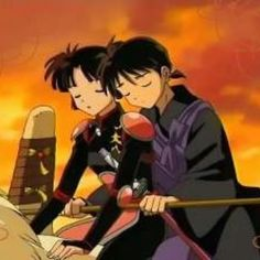 Miroku And Sango Just Resting