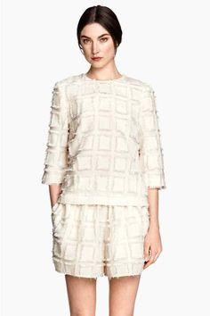 Top em tecido jacquard | H&M