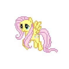 PATTERN  My Little Pony  Fluttershy  Cross Stitch by WistfulBird, $4.00