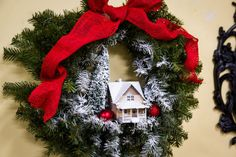 Ken Wingard's DIY Snow Village Holiday Wreath  | Home & Family | Hallmark Channel