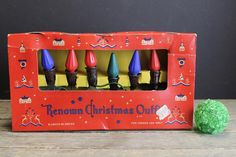Vintage Renown C 6 Light Strand and Mazda C 6 Christmas Light Bulbs // No. 217 Original Box // 8 Working by MyBarn on Etsy