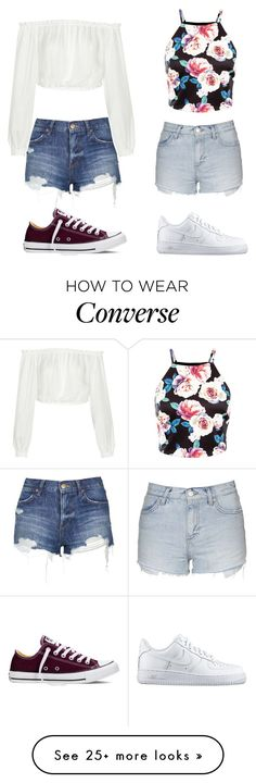 """1 or 2"" by shopaholic02 on Polyvore featuring Topshop, Elizabeth and James, NIKE and Converse"