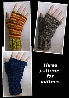 Ravelry: Three patterns for mittens pattern by Brian smith free pattern Fingerless Gloves Knitted, Crochet Gloves, Knit Mittens, Knit Crochet, Loom Knitting, Knitting Patterns Free, Crochet Patterns, Free Pattern, Knitting Ideas