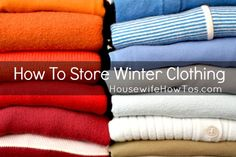 How To Store Winter Clothing from HousewifeHowTos.com - Five simple steps to transitioning your wardrobe from winter to spring,