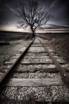 traintrackeclipse by Todd Wall on 500px