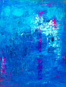Abstract paintings by Seattle artist, Jenny Vorwaller. Abstract Shapes, Blue Abstract, Cool Paintings, Painting Art, Heart Art, Decoration, Creative Inspiration, Shades Of Blue, Artsy Fartsy