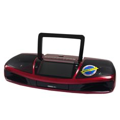 Supersonic Portable Audio System with Remote Control and 4.3 LCD Screen-Red
