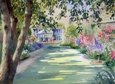 Ann's Watercolour Studio: Walled Garden step by step demonstration.