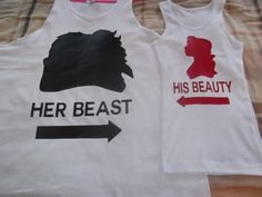 Hey, I found this really awesome Etsy listing at http://www.etsy.com/listing/152012524/disney-beauty-the-beast-couples-tank