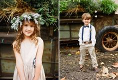 flower girl and ring bearer.. so darling. I love the regular dress with her crown