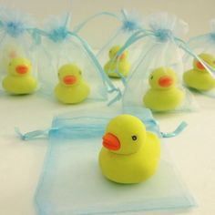 Rubber Duck Eraser Baby Shower Favors - as quick and easy as it gets!