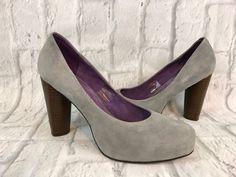 Jeffrey Campbell Gray Suede High Heel Closed Toe Platform Shoes Size 9M  | eBay