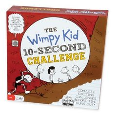 """Diary of Wimpy Kid 10 Second Challenge game includes everything you need to """"outwimp"""" your best friends. Not all that challenges are Bean Bag Balls, Friend Challenges, 8 Year Old Boy, Challenge Games, Kids Fans, Kids Diary, Jeff Kinney, Wimpy Kid, Fun Board Games"""