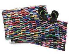 FLIP FLOP MATS | | UncommonGoods - More flip for your flop, these colorful doormats are made of scrap foam rubber from sandal factories in the Philippines that would have otherwise ended up in a landfill. Made in the Philippines.