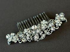bridal hair comb wedding hair accessories bridal by Lolambridal, $79.00