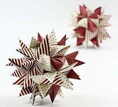 (woven star tutorial; Danish) Stor stjerne af 12 flettestrimler