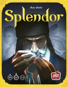 Splendor is a fast-paced and addictive game of chip-collecting and card development. Players are merchants of the Renaissance trying to buy gem mines, means of transportation, shops — all in order to acquire the most prestige points. If you're wealthy enough, you might even receive a visit from a noble at some point, which of course will further increase your prestige.  On your turn, you may (1) collect chips (gems), or (2) buy and build a card, or (3) reserve one card. If you collect ...