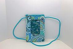 ID phone case in pastel blue paisley by JoyInTheBag on Etsy