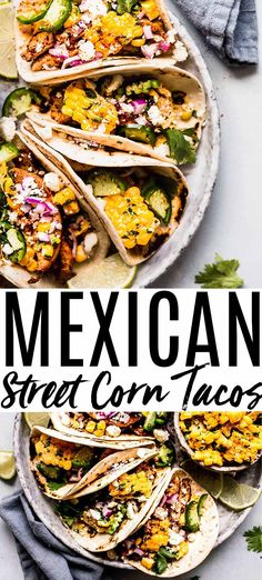 Authentic Mexican Recipes, Mexican Food Recipes, Authentic Mexican Chicken Tacos Recipe, Mexican Desserts, Drink Recipes, Dinner Recipes, Mexican Corn Side Dish, Taco Side Dishes, Food Dishes