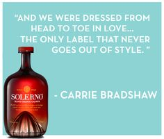 Carrie Bradshaw and her friends found a great balance with their own #DrinkPlayLove lives in NYC - this quote is one of our favorites!
