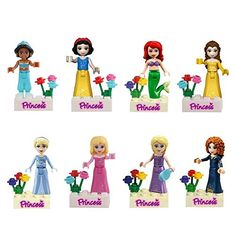 Generic Jiego Fairy Tales Snow White/Mermaid/Jasmine Princess Minifigure Building Block Toys Compatible with LEGO Review
