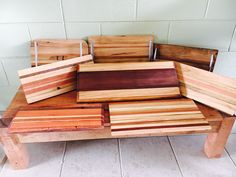 Upcycled Timber chopping boards and platters