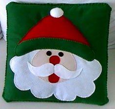 Cojín de Papa Noel, Navidad.