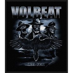 Volbeat Outlaw Raven Patch Official Heavy Metal Rock Band Merch New Heavy Metal Rock, Heavy Metal Music, Heavy Metal Bands, Black Metal, Rock Merchandise, Band Patches, Sew On Patches, Volbeat, Band Jacket