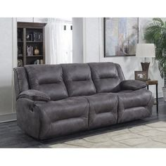 Darby Home Co Creech Double Motion Reclining Sofa Type: Manual