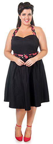 Dolly and Dotty 'Sophie' Polka Dot Halter Neck Vintage Swing Dress in Black w/ Cherry Straps Size 22 Dolly and Dotty http://www.amazon.co.uk/dp/B014L0WTQC/ref=cm_sw_r_pi_dp_ZuWJwb169GK11