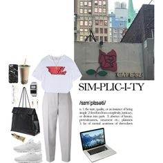 Look #381 by lexi7802 on Polyvore featuring Carven, Maison Margiela, Reebok, Casio, Repossi, Zoe & Morgan, Wildfox and Aesop
