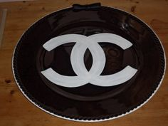 Elegant Chanel Inspired  Black Charger Plates CC by TresSuzette, $44.00