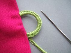 Sewn button loop tutorial. Instructions very easy to follow.