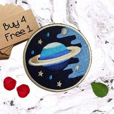Planet Patches Space Patches Iron On Patch Applique Patches