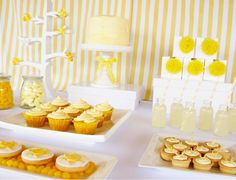 A perfect yellow and white party. If anyone ever wants to throw me a surprise party, feel free to make it look like this! I love it.
