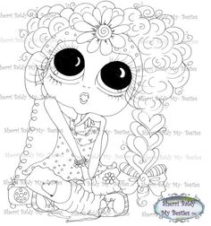 INSTANT DOWNLOAD Digital Digi Stamps Big Eye Big by SherriBaldy, $3.00