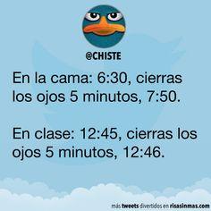 El tiempo en la cama y en clase