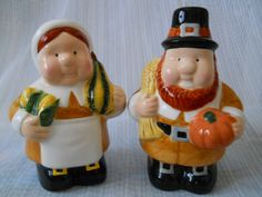 Pilgrim Salt and Pepper Shakers vintage by TheShakerShack on Etsy