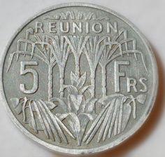 5 Franc CFA Réunion Cfa, Outre Mer, Madagascar, Paradise, Europe, France, Indian, Sculpture, Island