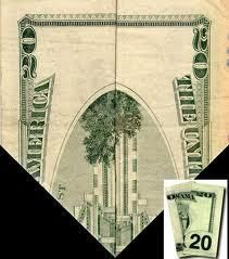 Why when you fold the 20 dollar bill it shows the twin towers burning?! The 20 dollar bill was made long before 9/11. The elite just do this on purpose because they know they can get away with it!