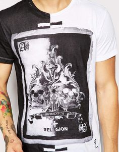 Image 3 of Religion T-Shirt with Ace of Spades Print