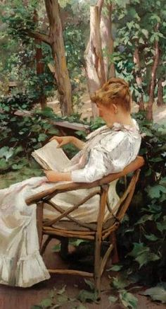 ✉ Biblio Beauties ✉ paintings of women reading letters and books - Irving Ramsay Wiles