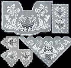 Crochet Tablecloth, Crochet Doilies, Crochet Lace, Filet Crochet, Shabby, Pattern, Crafts, Jewelry, Home Decor