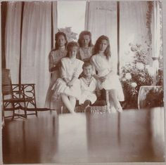 A lovely picture of the Czar and Czarina's family.