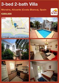 3-bed 2-bath Villa in Moraira, Alicante (Costa Blanca), Spain ►€269,000 #PropertyForSaleInSpain